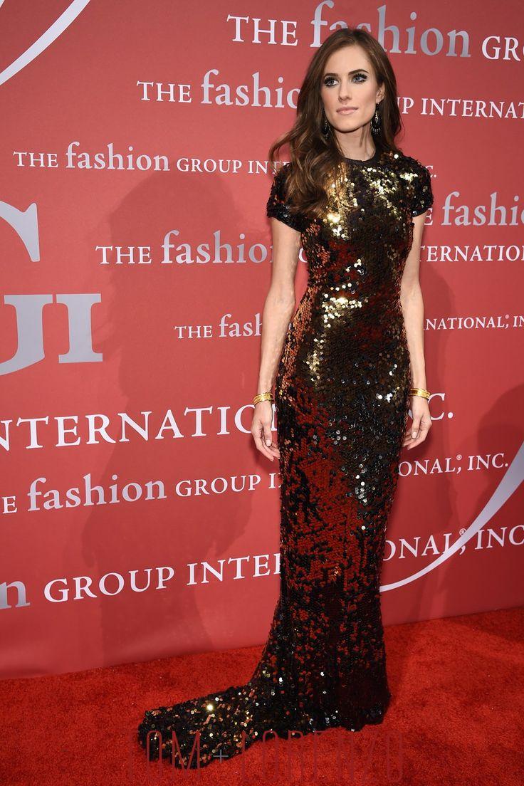 Allison Williams in Lanvin at the 2015 Fashion Group International Night of Stars Gala