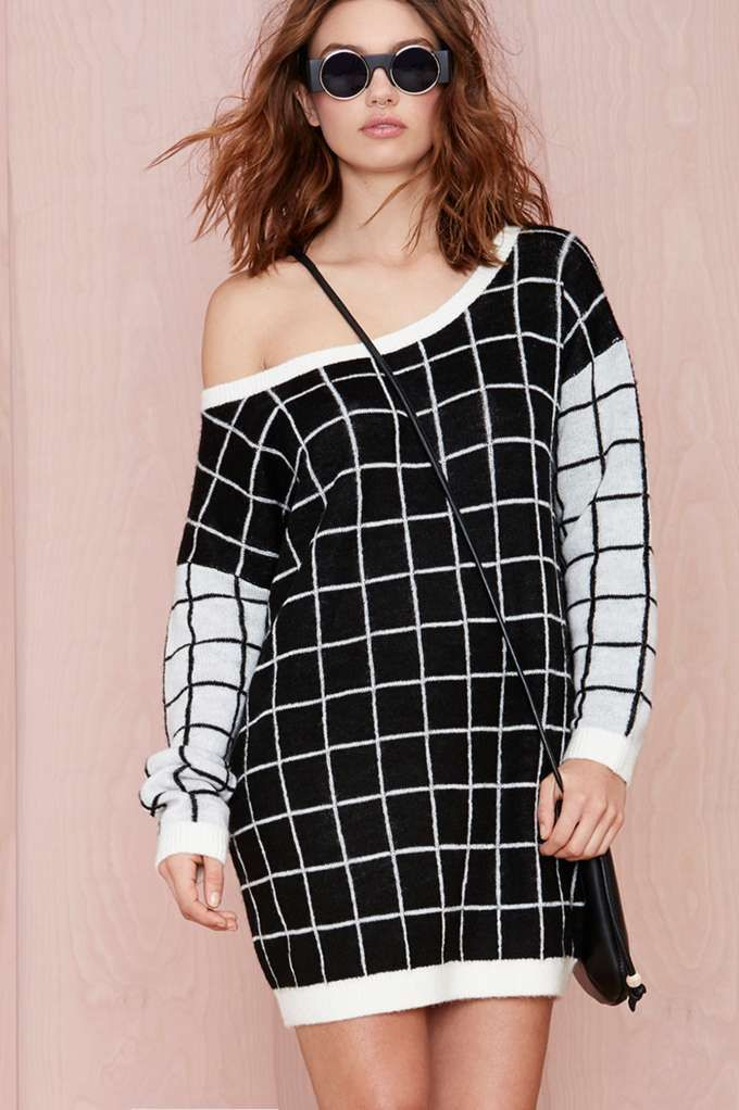 Nasty Gal Checkmate Sweater | Shop Clothes at Nasty Gal