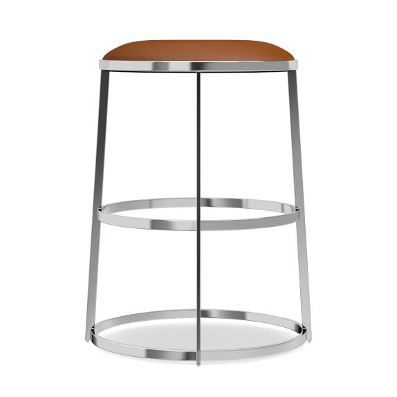 Bernau Round Stool Counter Tuscan Leather Bourbon  sc 1 st  Pinterest & 222 best counter | bar stool images on Pinterest | Counter bar ... islam-shia.org