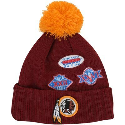 New Era Washington Redskins Super Bowl Cuffed Up Commemorative Beanie - Burgundy