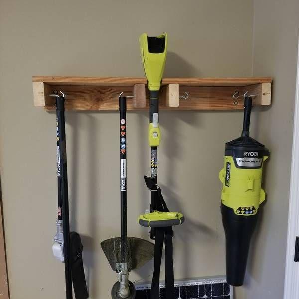 Ryobi Nation Yard Tools Rack Tool Storage Diy Lawn Tool Storage Diy Garage Storage