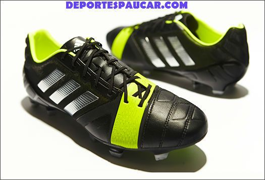 Adidas Nitrochargue 1.0 negra-plata-amarilla - Botas De Futbol Deportespaucar