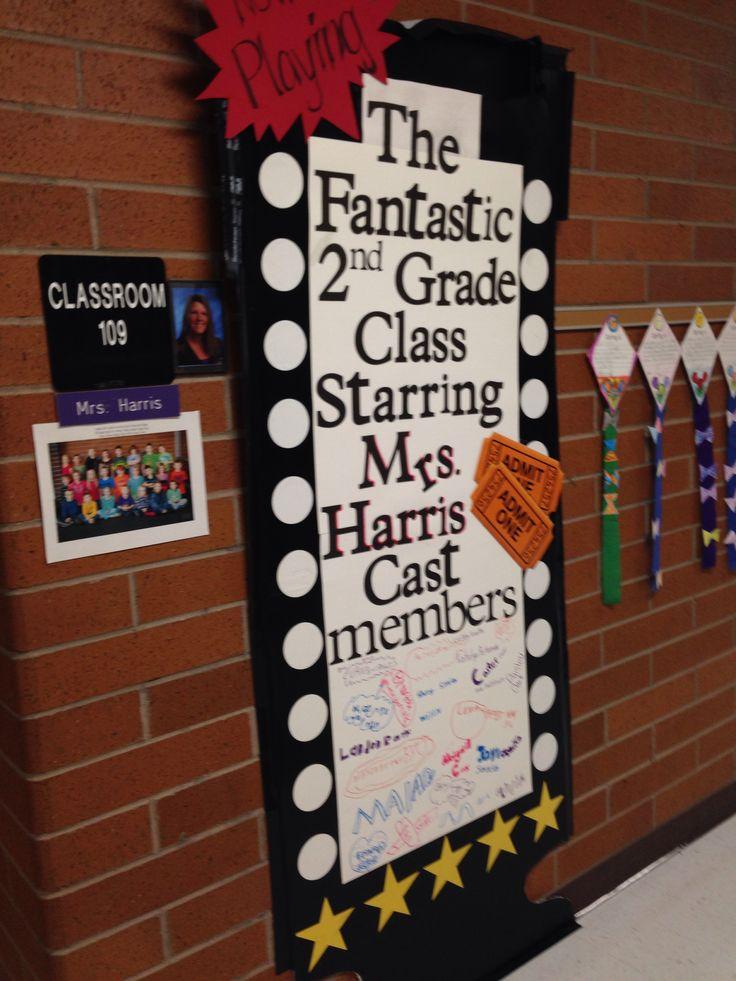 Teacher appreciation, decorate door, Hollywood theme