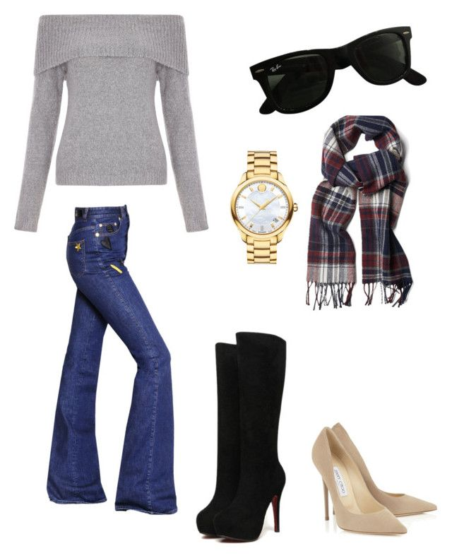 Casual Day by sil-mena on Polyvore featuring polyvore, fashion, style, New Look, Sonia Rykiel, Movado, GANT, Ray-Ban and clothing