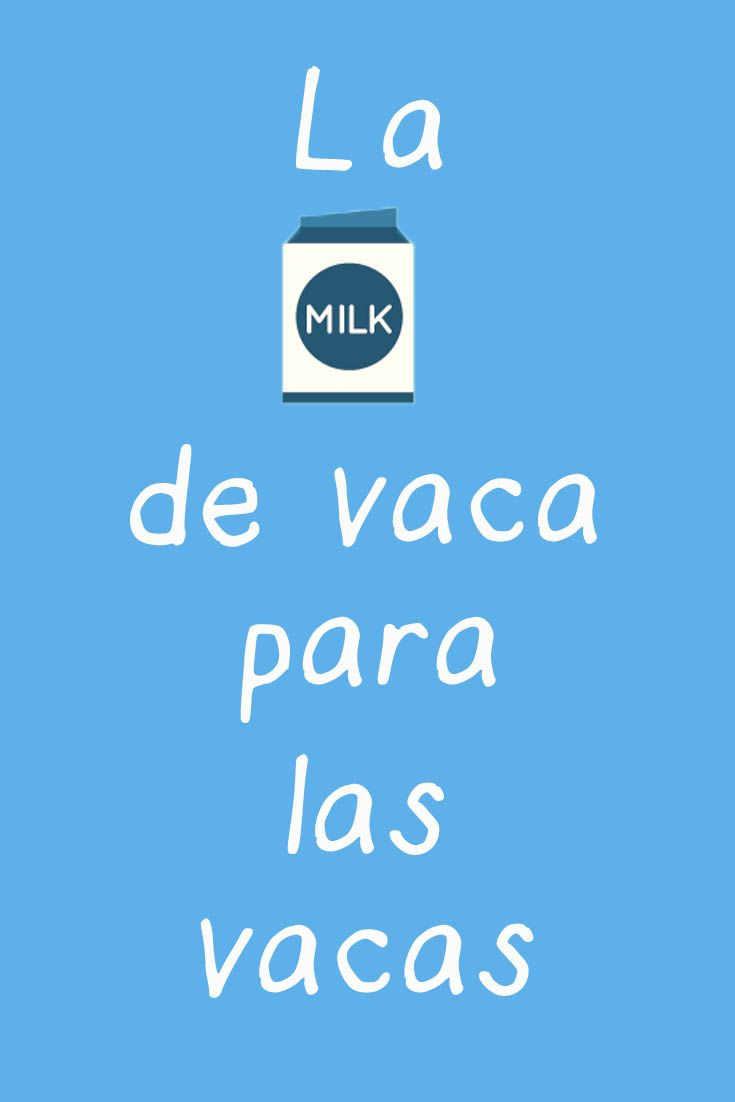 ¿Sabías que la leche de vaca sirve para amamantar terneros y no humanos? Las grandes marcas nos han vendido que tenemos que beber leche de vaca porque aportan mucho calcio... pero qué tan cierto es esto? Descúbrelo leyendo el artículo! ;)