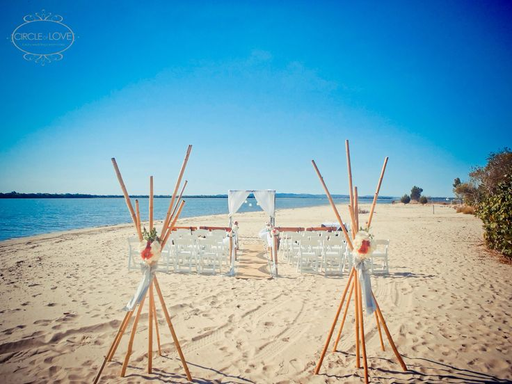 Beach wedding at Maclarens Landing www.circleofloveweddings.com.au