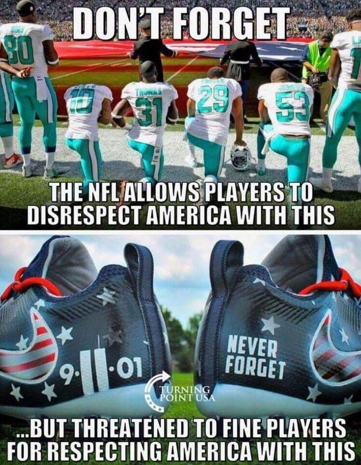 #BoycottNFL and sponsors. Our veterans fought for and some died for what that flag and anthem represent all over the world...ONE nation under GOD & INDIVISIBLE.
