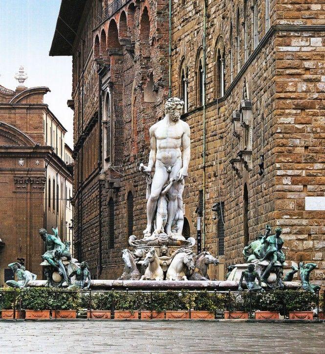 Firenze, Fontana del Nettuno, Piazza della Signoria - Fountain of Neptune, Florence