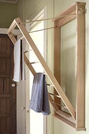 The wall mounted indoor laundry rack clothes airer…