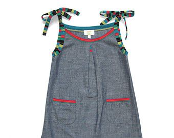 Items op Etsy die op Ayla peuter schort jurk - Vintage meisjes jurk-2T, 4T, 3T en 5T lijken