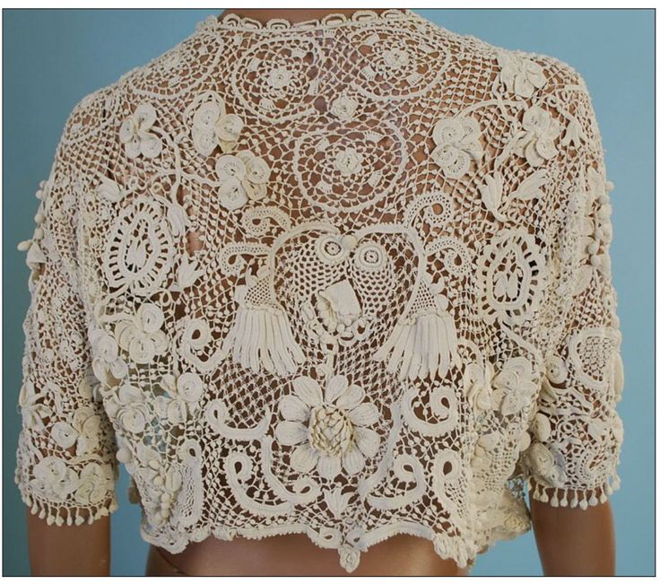 Irish Antique crochet lace