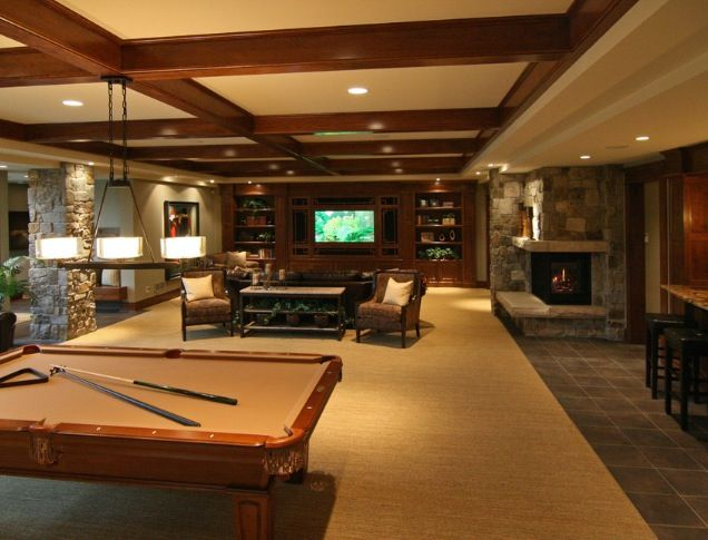 Dream basement man cave home is where the heart is - Man cave ideas for basement ...