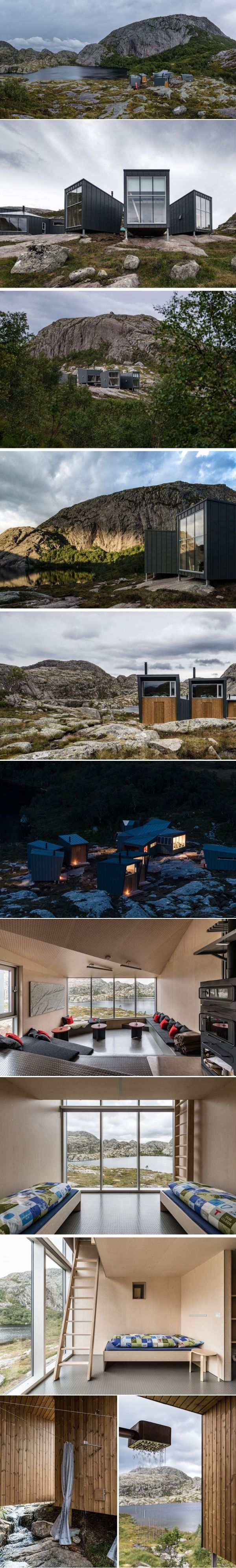 A Cluster Of Hiking Lodges Has Emerged In The Mountains Of Norway | CONTEMPORIST