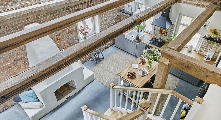 Aranżacja otwartej przestrzeni w rustykalnym stylu