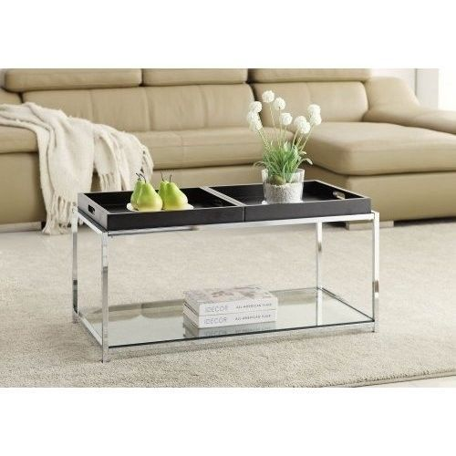 Contemporary Modern Coffee Table Tempered Glass Living Room Home Decor Furniture #ContemporaryModernCoffeeTable #Contemporary