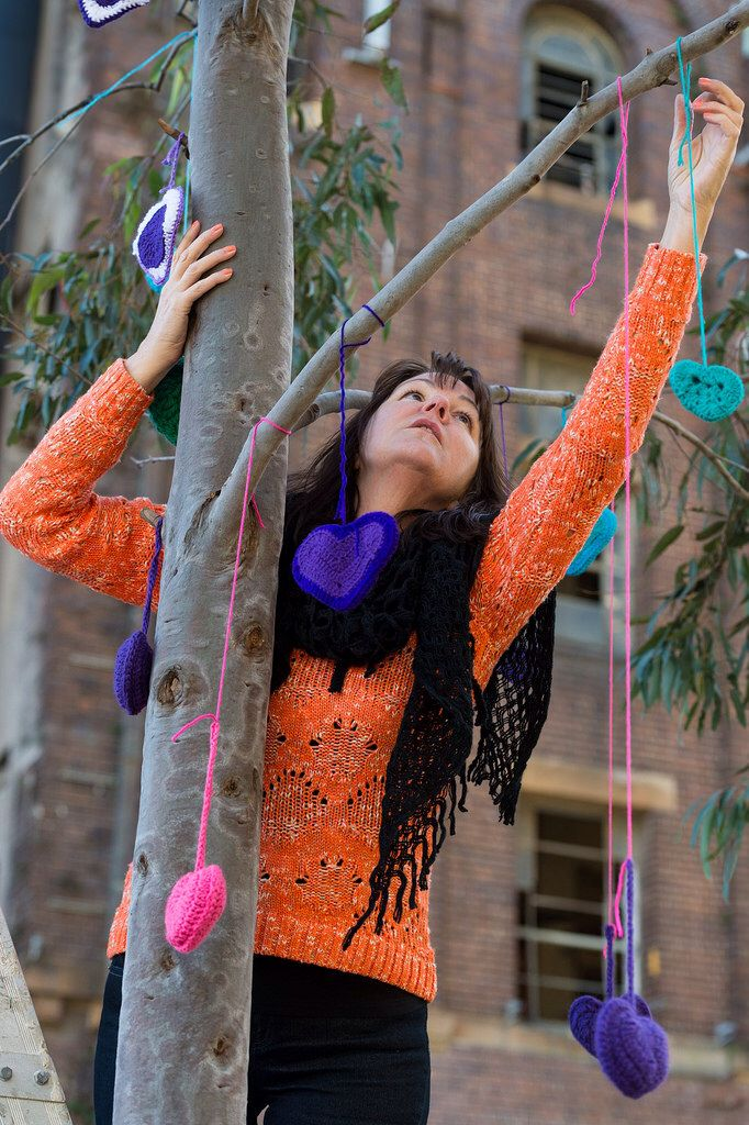 Yarnbombing by Yarn Corner