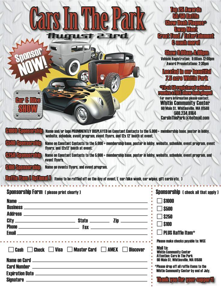 7 best Registration, Vendor \ Sponsor Forms, Dash Plaques images - how to make a sponsor form