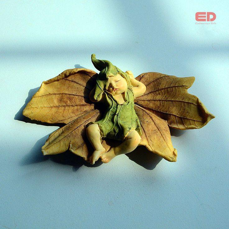ED folha de design original de fadas anjo estatueta estátua do bebê ao ar livre/jardim ornamento decoração de Natal de fadas Em Miniatura para casa em Ornamentos para Jardim de Home & Garden no AliExpress.com | Alibaba Group