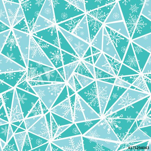 The 25 best mint green wallpaper ideas on pinterest mint green vector abstract mint green christmass snowflakes on triangles repeat seamless pattern background can be used voltagebd Gallery