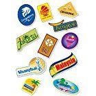 World Travel Locations Suitcase Stickers - 11 von Gepäck Aufkleber Labels Set