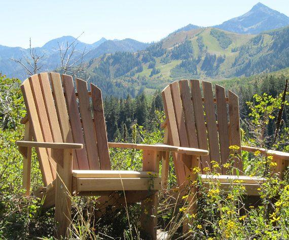 Adirondack Chair Kits 2   western red cedar by gardenfurnituremill, $243.00