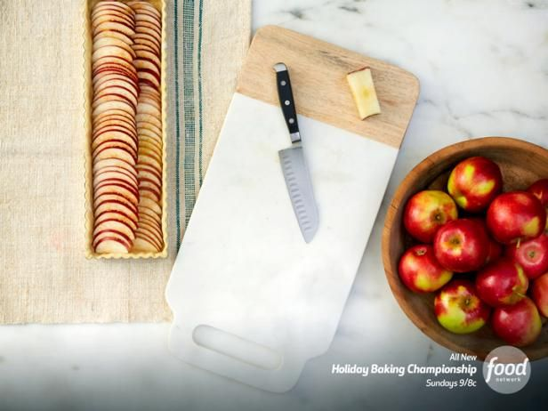 Learn how to prep apples for tarts and pies like a pro, and tune in to Food Network's Holiday Baking Championship on Sundays at 9|8 c for more holiday baking tips and ideas.