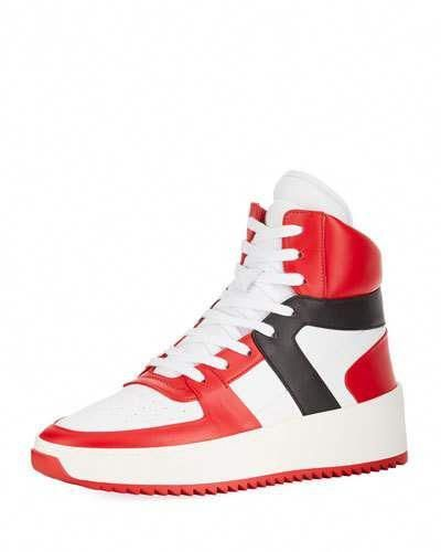 de1801991d36 Fear Of God Men s Tricolor Leather High-Top Basketball Sneakers   basketballsneakers