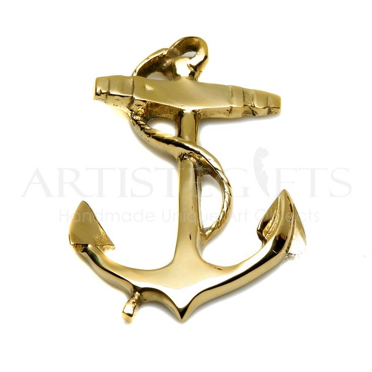 Χειροποίητη Άγκυρα Πρες Παπιέ Διακοσμημένη Με Ναυτικό Σχοινί υλοποιημένη από ορείχαλκο. Αποκτήστε την online http://www.artistegifts.com/agyra-diakosmimeni-naftiko-sxoini-mikri.html