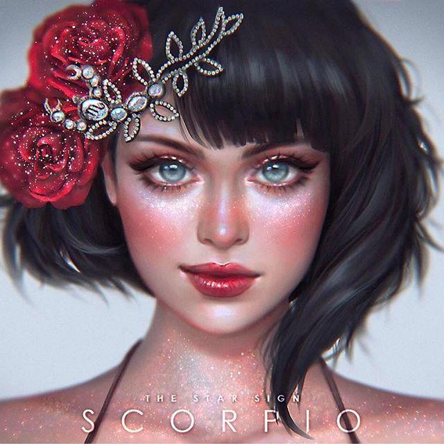 Any Scorpio here? ♏️ #serazodiacs Full image is on my deviantArt page!