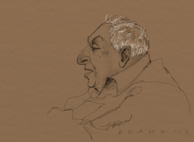 """#1 in my """"Old Codger"""" series, done at the UW bookstore lounge."""