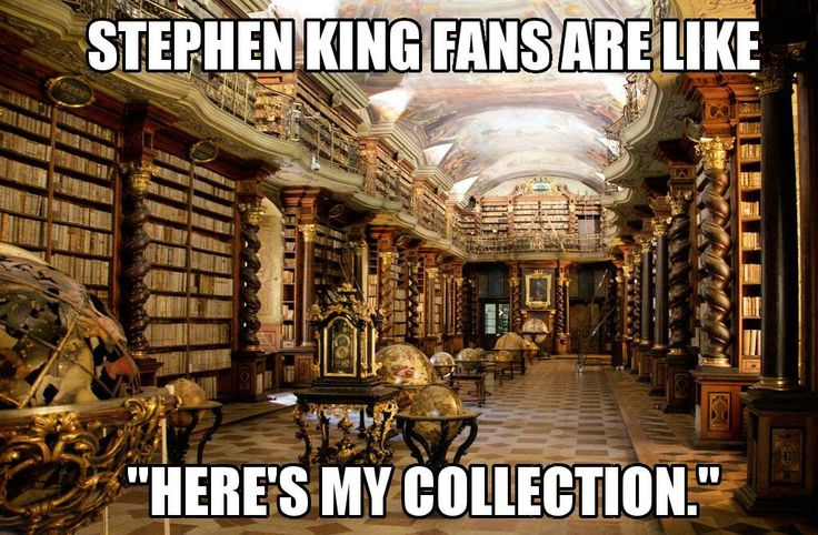 oh, so true.  :)   looks like my Stephen king collection.  really.  :)