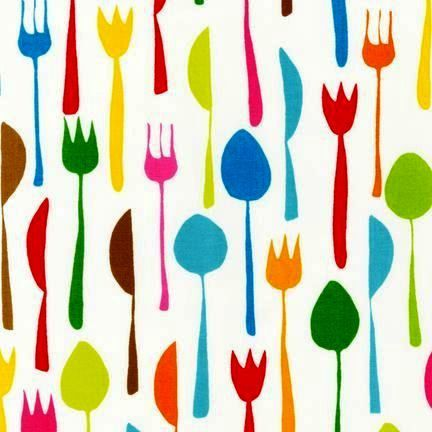 Retro Fabric Spoons, Forks, Knives. This Pattern Would Be Really Neat As  The Backdrop Of Cabinets. | Pattern | Pinterest | Retro Fabric, Forks And  Spoons