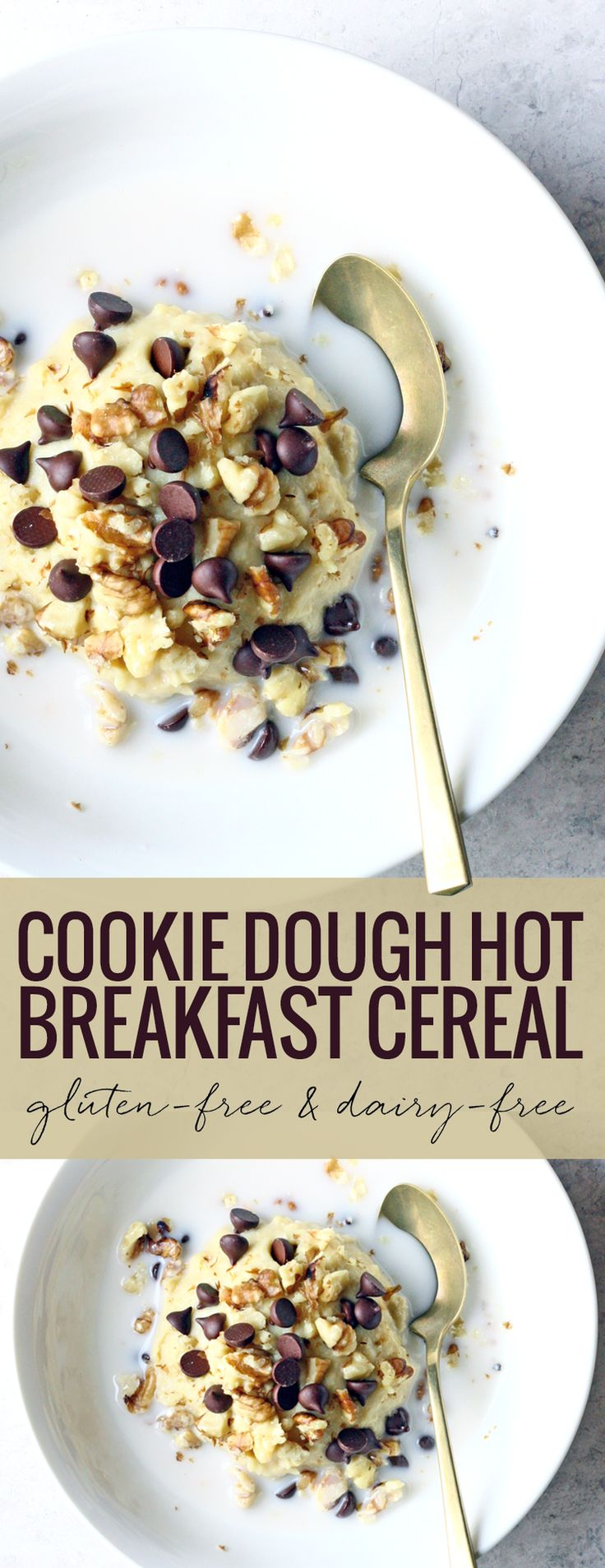 Chocolate Chip Cookie Dough Hot Breakfast Cereal