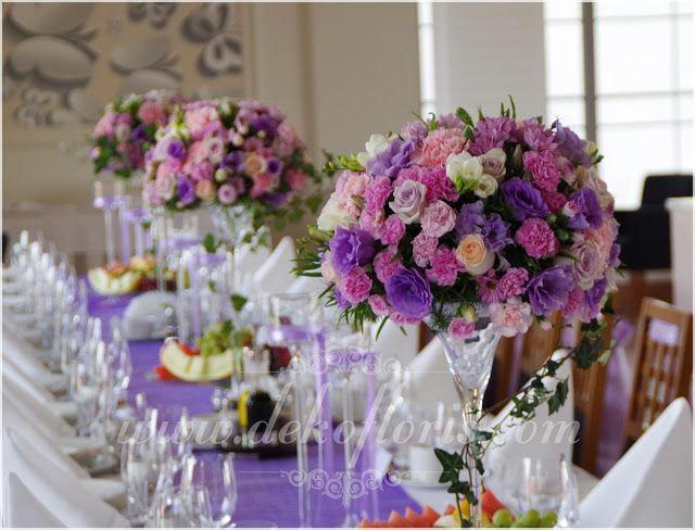 Fioletowa dekoracja ślubna Magiczny Zakątek Raszowa