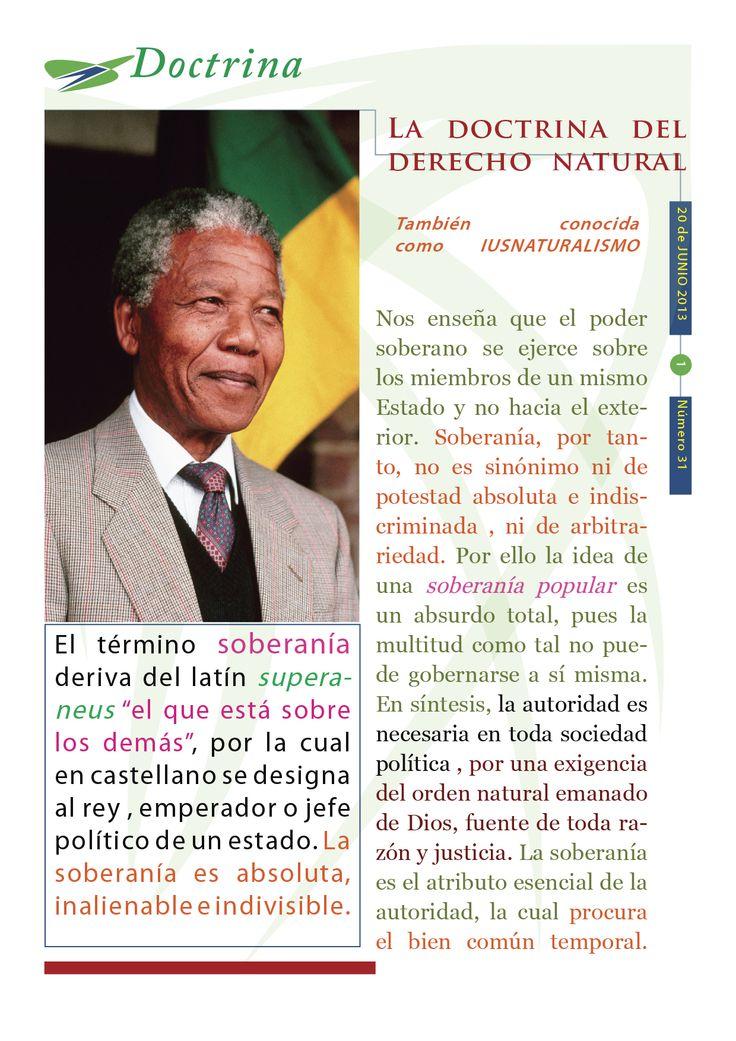"""Cápsula doctrinal del Humanismo Político número 31, editada por el CDE del PAN Morelos, con el tema """"La soberanía""""."""