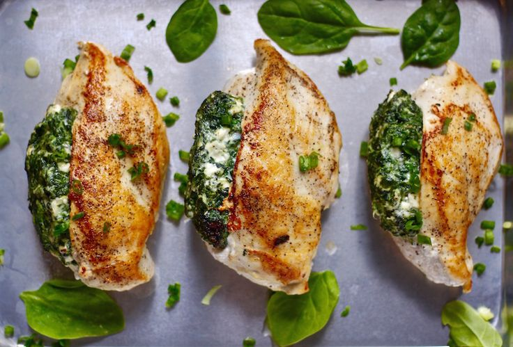 Spinach & Feta Stuffed Chicken Breasts | Made 11/16 Kyle LOVED these; said was his favorite meal I've ever made!!!