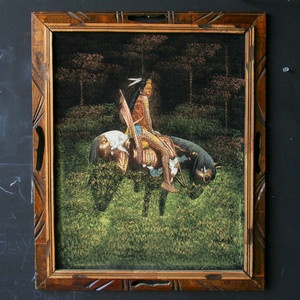 Native On Horseback Painting now featured on Fab.