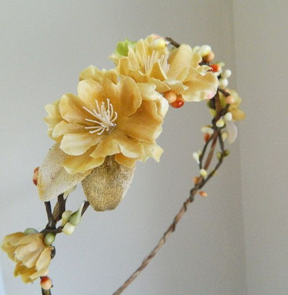 Autumn Blossom crown