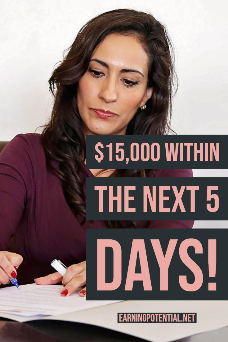 $15,000 within the next 5 days! – Affiliate