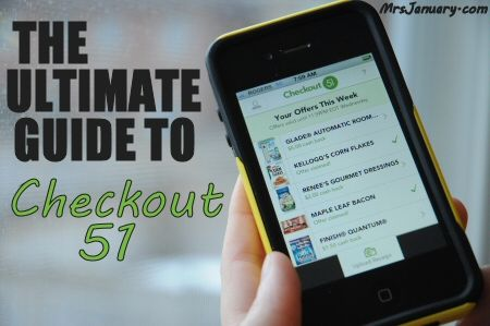 The Ultimate Guide to Checkout 51 (Canadian money saving app!) via MrsJanuary.com #savemoney #extremecouponing