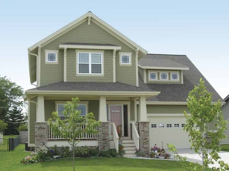 Eplans craftsman house plan 1568 square feet and 3 for House exterior colour planner