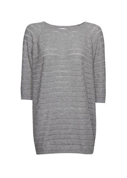 MANGO - Lurex cotton openwork sweater - The newest addition to my closet!