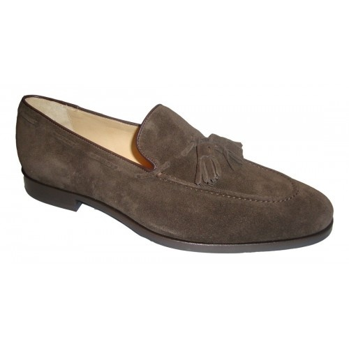 Arfango brown loafer with suede tassel