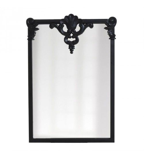 WOODEN WALL MIRROR IN BLACK COLOR 52X2X78