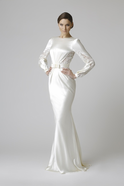 White modest dress
