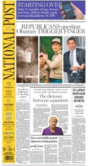 National Post 1/30/2013 - President challenged to shooting contest