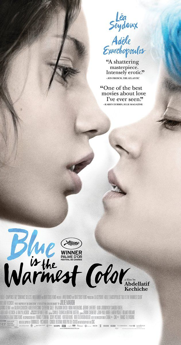Directed by Abdellatif Kechiche.  With Léa Seydoux, Adèle Exarchopoulos, Salim Kechiouche, Aurélien Recoing. Adèle's life is changed when she meets Emma, a young woman with blue hair, who will allow her to discover desire and to assert herself as a woman and as an adult. In front of others, Adèle grows, seeks herself, loses herself, and ultimately finds herself through love and loss.