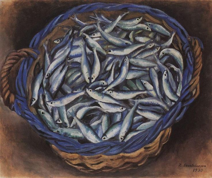 Shopping cart with sardines, 1930 - Zinaida Serebriakova