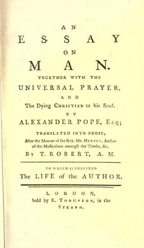 Summary of the poem an essay on man by alexander pope