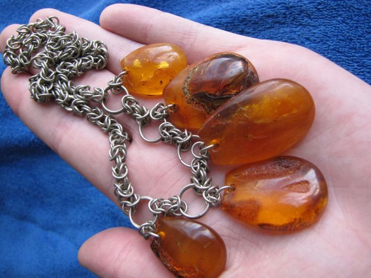 Natural Baltic Amber 50 gr cognac Butterscotch Necklace 老琥珀 USSR gems cabochon #Handmade